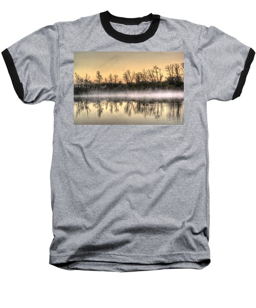 Baseball T-Shirt featuring the photograph Early Morning Mist by Lynn Geoffroy