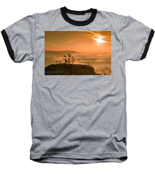 Early Morning On The Lilienstein Baseball T-Shirt