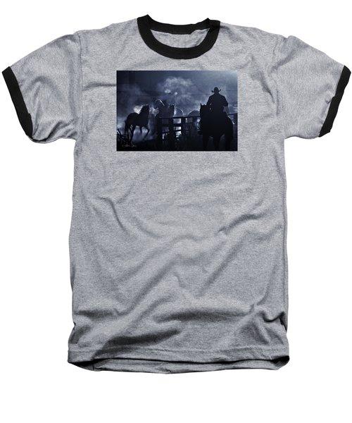 Early Morning Smoke Baseball T-Shirt by Joan Davis