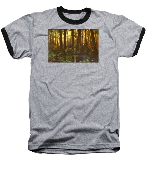 Early Morning Sun On Cannock Chase Baseball T-Shirt by Jean Walker