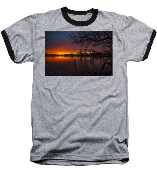 Baseball T-Shirt featuring the photograph Early Morning Sunrise by Nicholas  Grunas