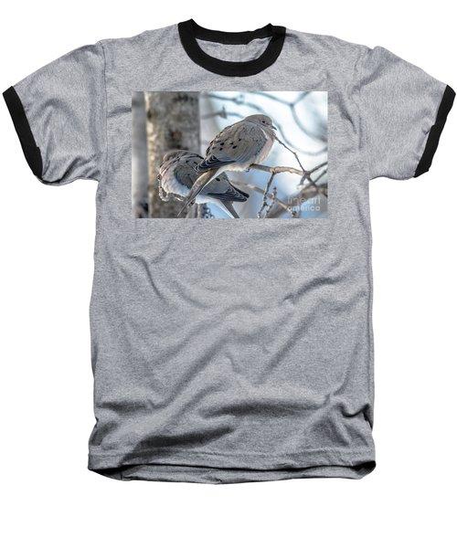 Early Mourning Baseball T-Shirt by Cheryl Baxter