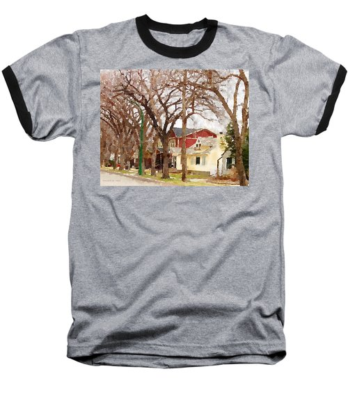 Early Spring Street Baseball T-Shirt by Donald S Hall