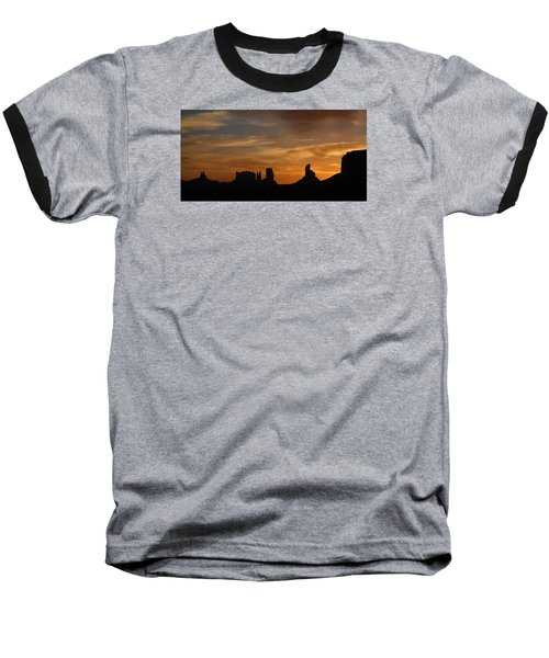 Early Sunrise Over Monument Valley Baseball T-Shirt