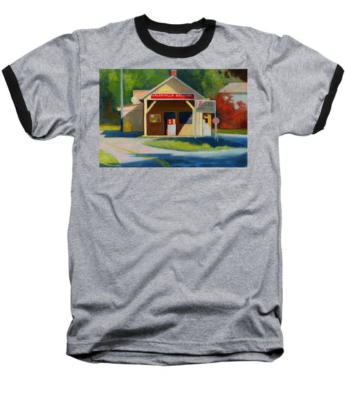Earlysville Virginia Old Service Station Nostalgia Baseball T-Shirt by Catherine Twomey