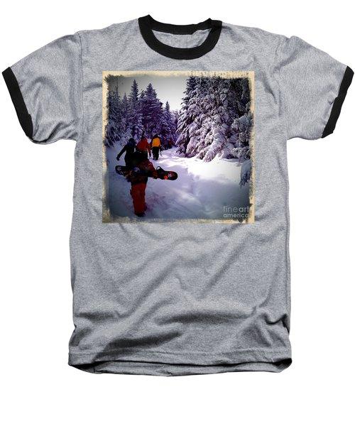 Baseball T-Shirt featuring the photograph Earning Turns by James Aiken