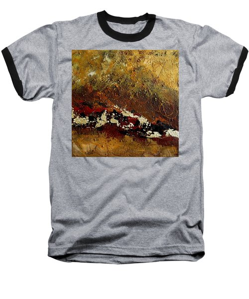 Earth Abstract Four Baseball T-Shirt by Lance Headlee