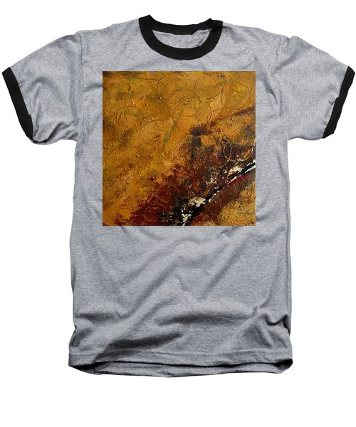 Earth Abstract Two Baseball T-Shirt by Lance Headlee