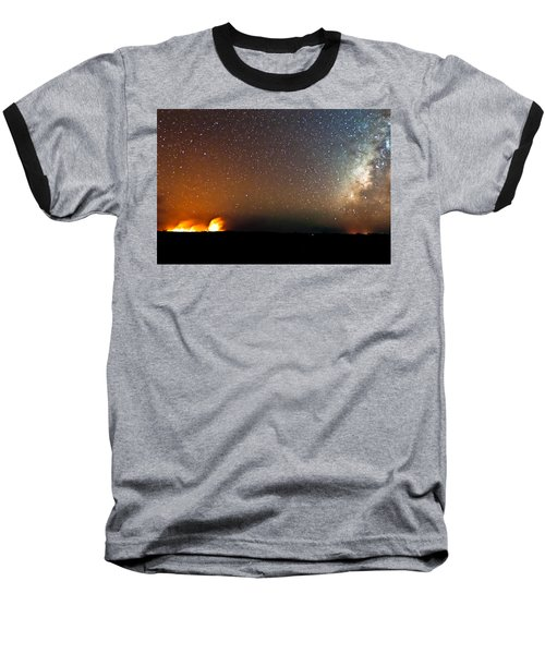 Earth And Cosmos Baseball T-Shirt