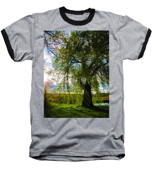 Earth Green Not Avatar Blue Baseball T-Shirt
