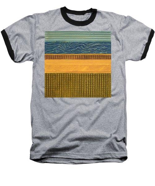 Earth Layers Abstract L Baseball T-Shirt