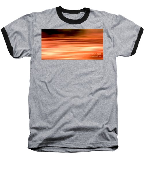 Abstract Earth Motion Burnt Orange Baseball T-Shirt by Linsey Williams