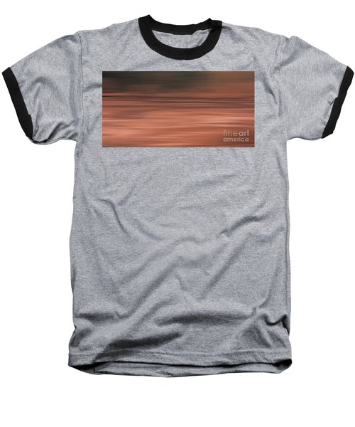 Abstract Earth Motion Soil Baseball T-Shirt by Linsey Williams
