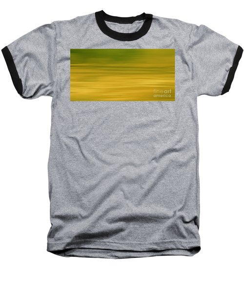 Abstract Earth Motion Lemon Grass Baseball T-Shirt by Linsey Williams