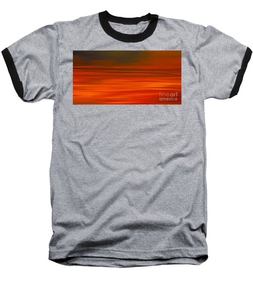 Abstract Earth Motion Sun Burnt Baseball T-Shirt by Linsey Williams