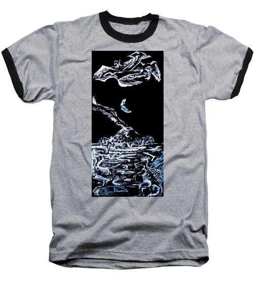 Earth Baseball T-Shirt by Ryan Demaree