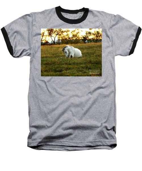 Easier Lying Down Baseball T-Shirt by Carol Lynn Coronios
