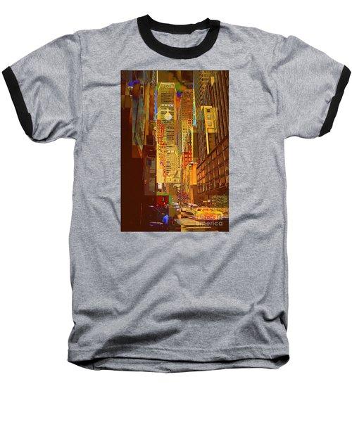 East 45th Street - New York City Baseball T-Shirt by Miriam Danar
