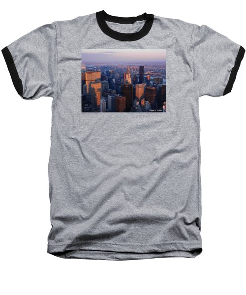 Baseball T-Shirt featuring the photograph East Coast Wonder Aerial View by Emmy Marie Vickers
