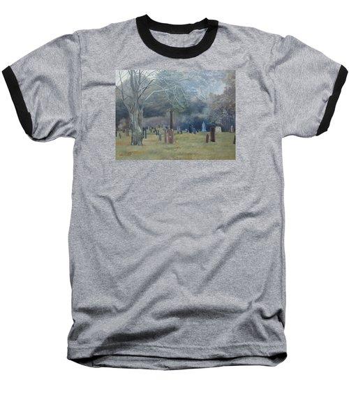 East End Cemetery Amagansett Baseball T-Shirt by Barbara Barber
