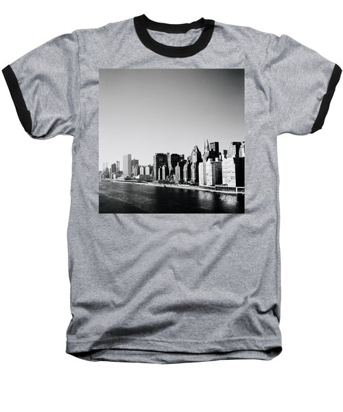 East River New York Baseball T-Shirt by Shaun Higson