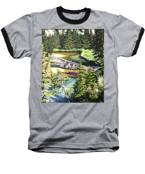 East Rosebud Inlet Stream Baseball T-Shirt by Patti Gordon