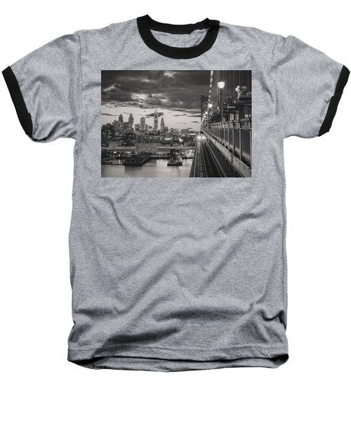 Eastbound Encounter In Black And White Baseball T-Shirt