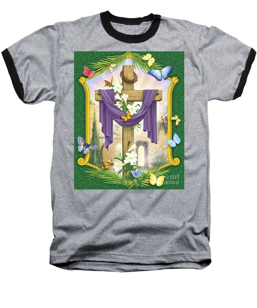 Easter Cross Baseball T-Shirt