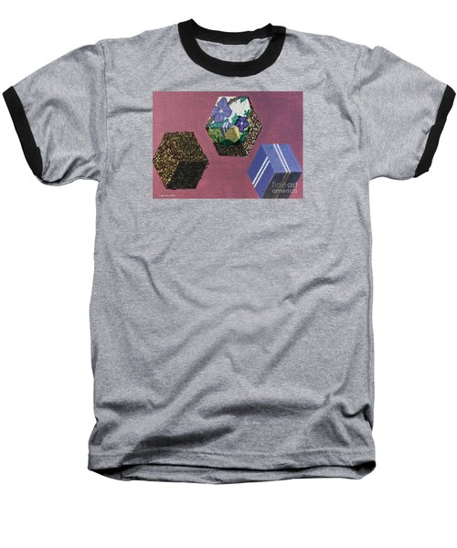 Baseball T-Shirt featuring the painting Easter Cubes - Painting by Megan Dirsa-DuBois