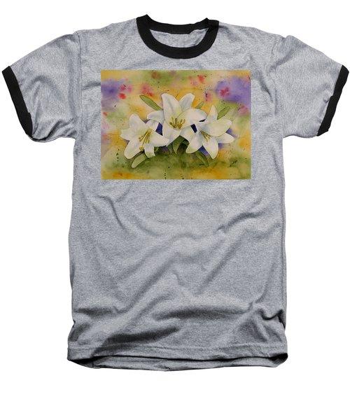 Easter Lilies Baseball T-Shirt