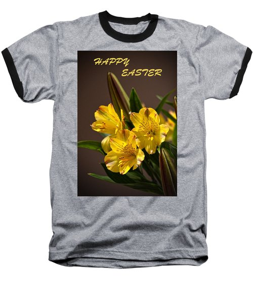 Easter Lilies Baseball T-Shirt by Sandi OReilly