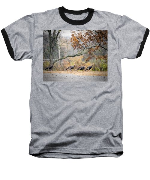 Eastern Wild Turkey  Baseball T-Shirt