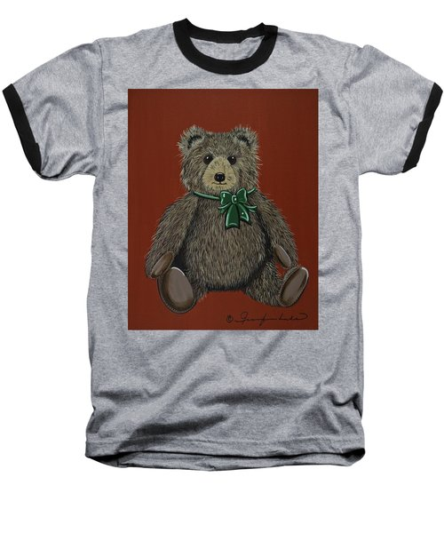 Baseball T-Shirt featuring the painting Easton's Teddy by Jennifer Lake