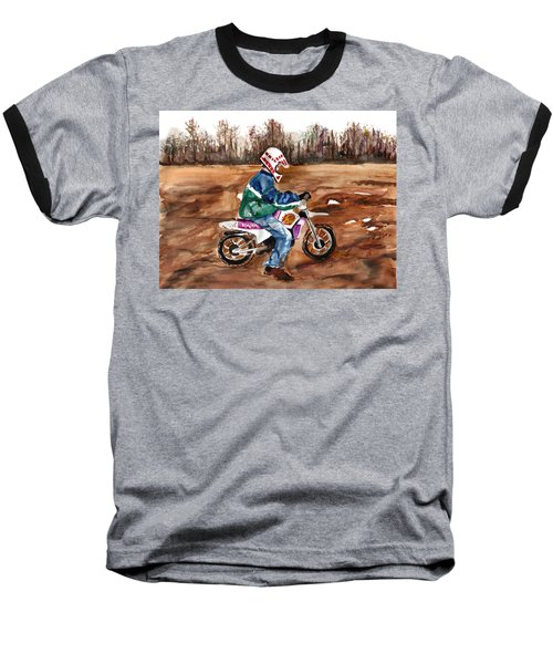 Easy Rider Baseball T-Shirt by Clara Sue Beym
