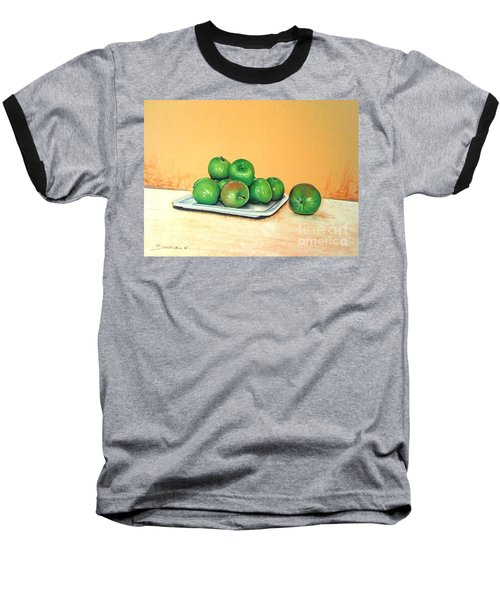 Eat Green Baseball T-Shirt by Katharina Filus