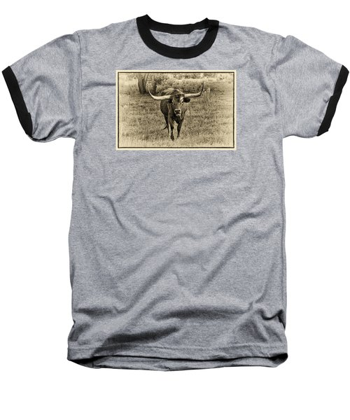 Eat Leaf Not Beef Sepia Baseball T-Shirt
