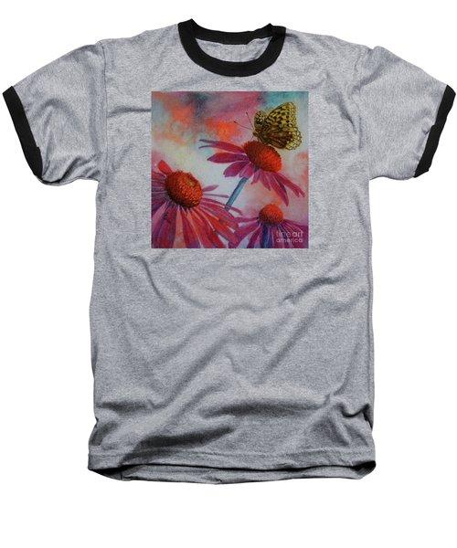 Echinacea Fritillaria Baseball T-Shirt
