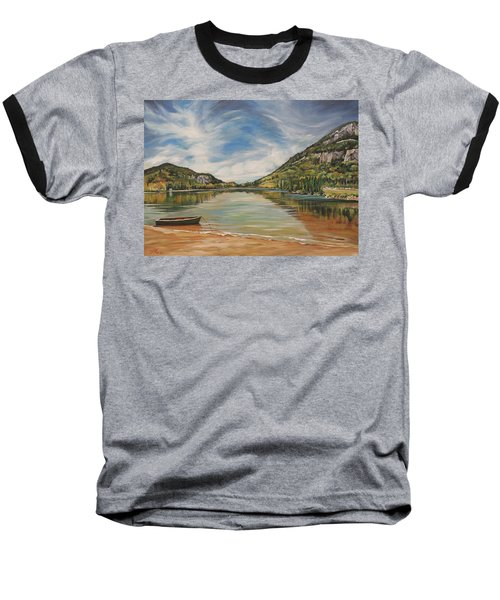 Echo Lake In Franconia Notch New Hampshire Baseball T-Shirt