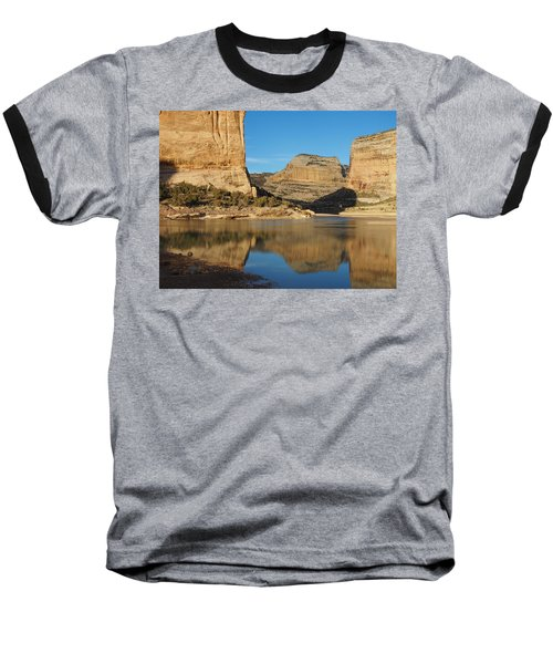 Echo Park In Dinosaur National Monument Baseball T-Shirt by Nadja Rider