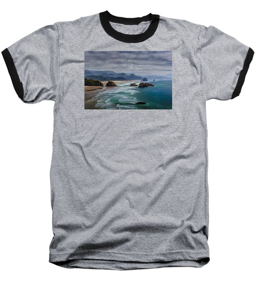 Ecola Viewpoint Baseball T-Shirt by Rick Berk