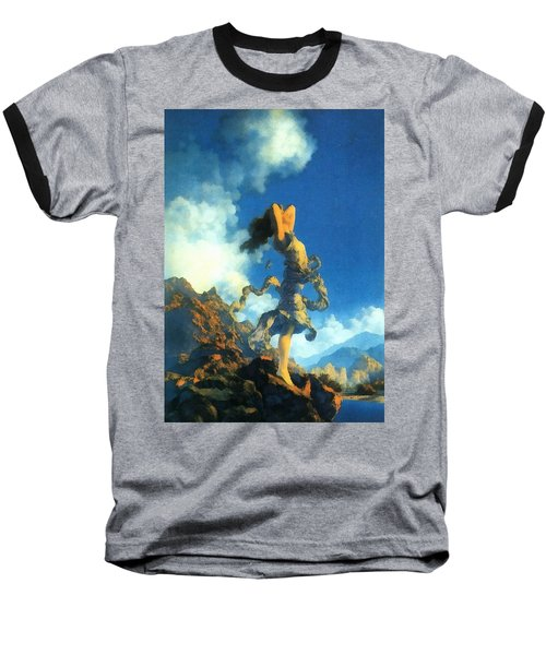 Ecstasy Baseball T-Shirt by Maxfield Parrish