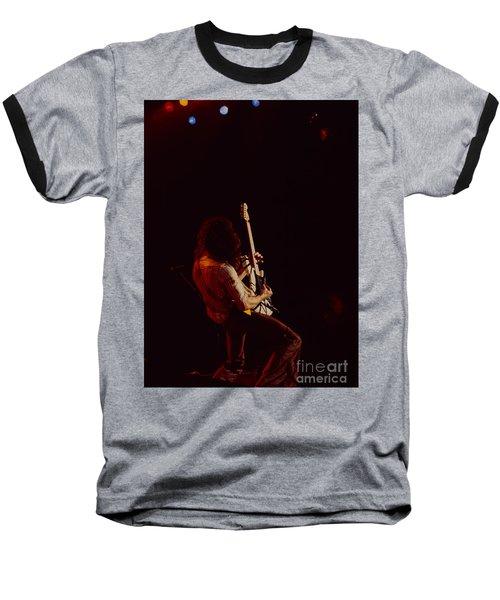 Eddie Van Halen - Van Halen At The Oakland Coliseum 12-2-1978 Rare Unreleased Baseball T-Shirt