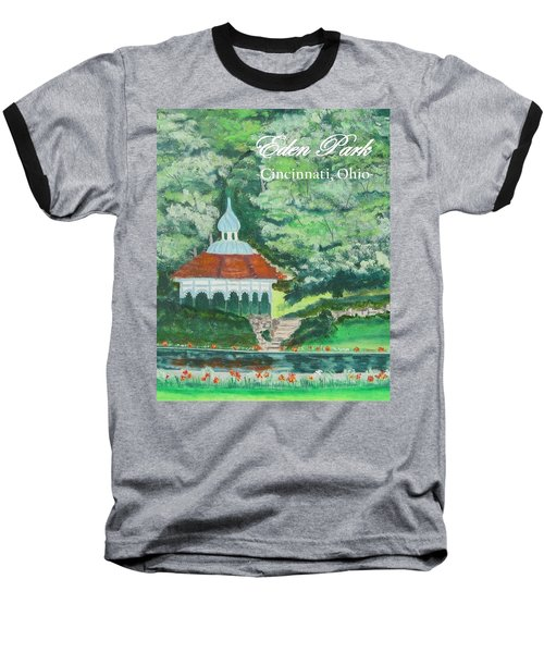 Eden Park Gazebo  Cincinnati Ohio Baseball T-Shirt by Diane Pape