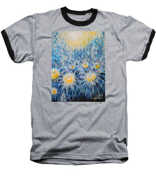 Baseball T-Shirt featuring the painting Edentian Garden by Holly Carmichael