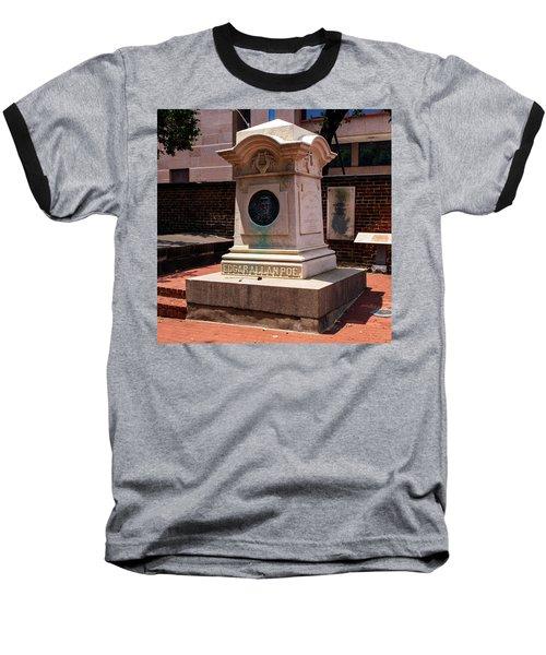 Edgar Allan Poe Tomb Baseball T-Shirt