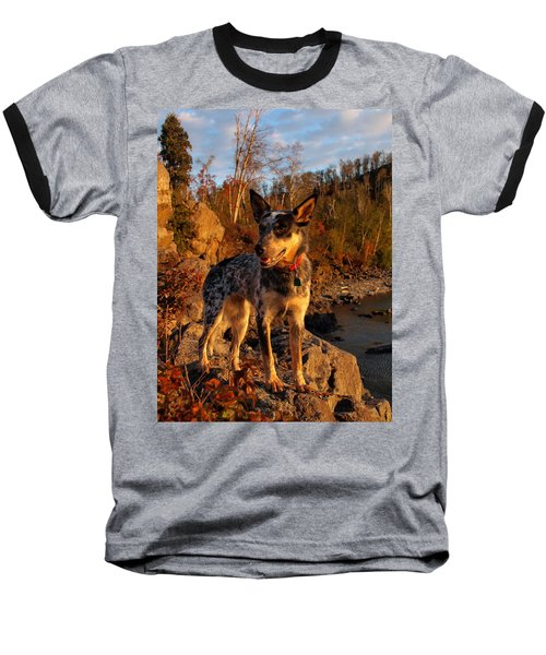Baseball T-Shirt featuring the photograph Edge Of Glory by James Peterson