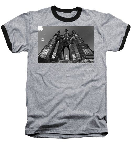 Edinburgh's Scott Monument Baseball T-Shirt