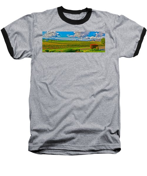 Edna Wineries Ca Baseball T-Shirt by Richard J Cassato