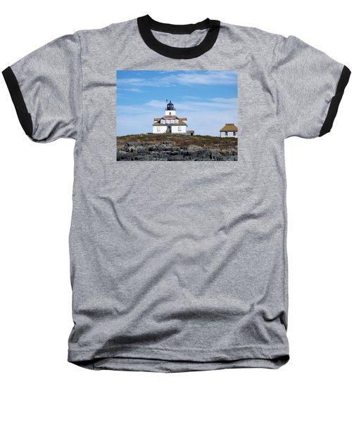 Egg Rock Lighthouse Baseball T-Shirt by Catherine Gagne