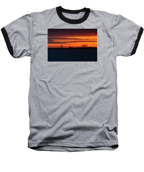 Egmont Key Lighthouse Sunset Baseball T-Shirt